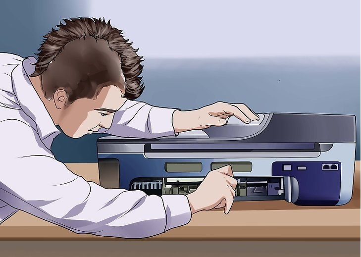What are the steps to Clear a Paper Jam on an HP Inkjet Printer?